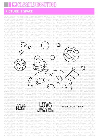 Clearly Besotted PICTURE IT SPACE Clear Stamps zoom image