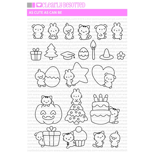 Clearly Besotted AS CUTE AS CAN BE Clear Stamps Preview Image