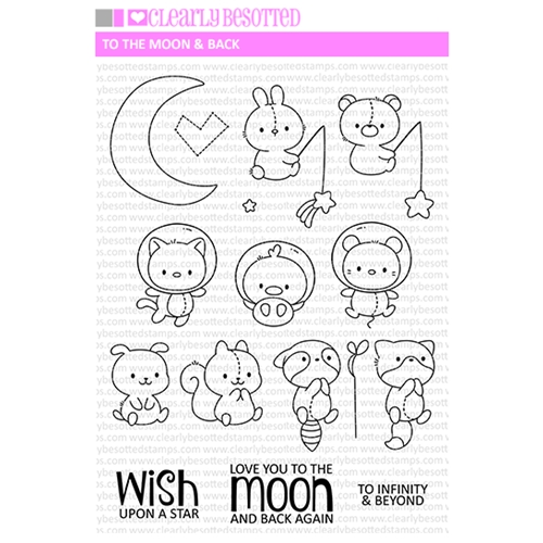 Clearly Besotted TO THE MOON AND BACK Clear Stamps Preview Image