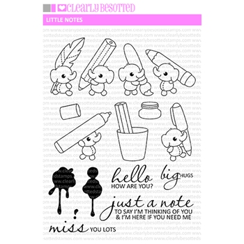 Clearly Besotted LITTLE NOTES Clear Stamps