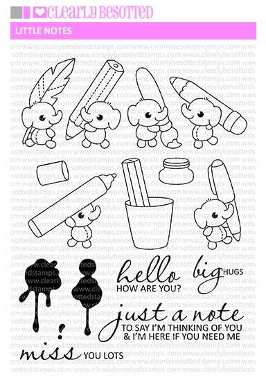 Clearly Besotted LITTLE NOTES Clear Stamps zoom image