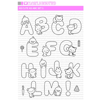 Clearly Besotted AS CUTE AS ABC SET 1 Clear Stamps