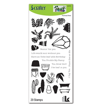 i-Crafter POSITIVELY PLANTS Clear Stamps 222012