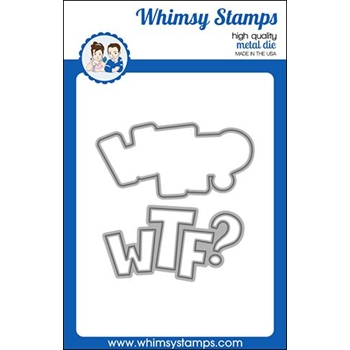 Whimsy Stamps WTF WORD AND SHADOW Dies WSD460