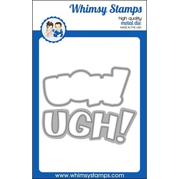 Whimsy Stamps UGH WORD AND SHADOW Dies WSD459