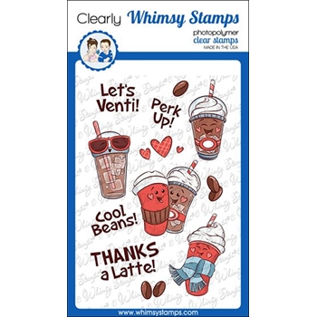 Whimsy Stamps COOL BEANS Clear Stamps KHB160