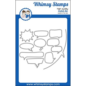 Whimsy Stamps COMIC SPEECH BUBBLES Dies WSD461
