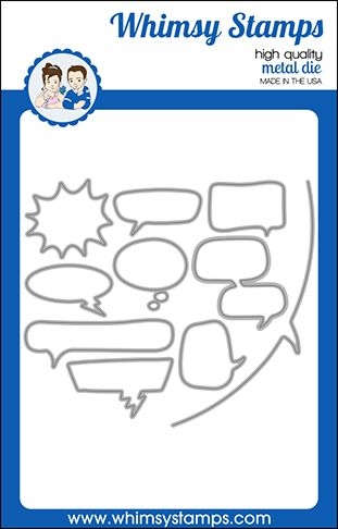 Whimsy Stamps COMIC SPEECH BUBBLES Dies WSD461 zoom image