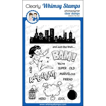 Whimsy Stamps BAM YOU'RE OLD Clear Stamps CWSD316
