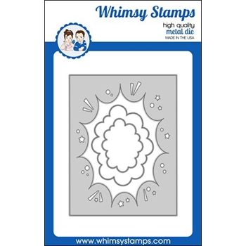 Whimsy Stamps COMIC BURST A2 Die WSD464