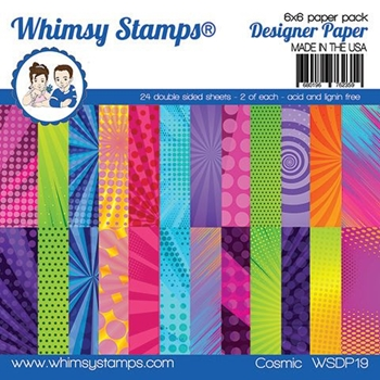 Whimsy Stamps COSMIC 6 x 6 Paper Pads WSDP05