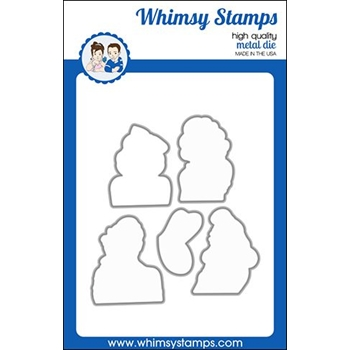 Whimsy Stamps GOSSIP GIRLS Dies WSD462
