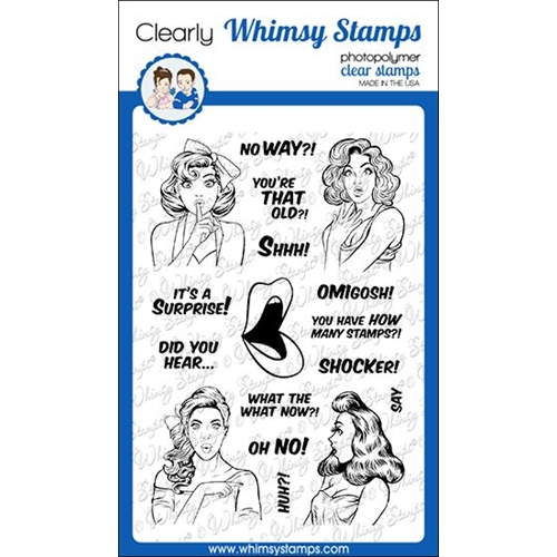 Whimsy Stamps GOSSIP GIRLS Clear Stamps CWSD315 Preview Image