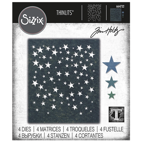 Tim Holtz Sizzix FALLING STARS Thinlits Dies 664732 Preview Image