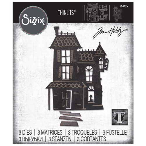 Tim Holtz Sizzix HAUNTED Thinlits Dies 664735 Preview Image