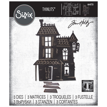 RESERVE Tim Holtz Sizzix HAUNTED Thinlits Dies 664735