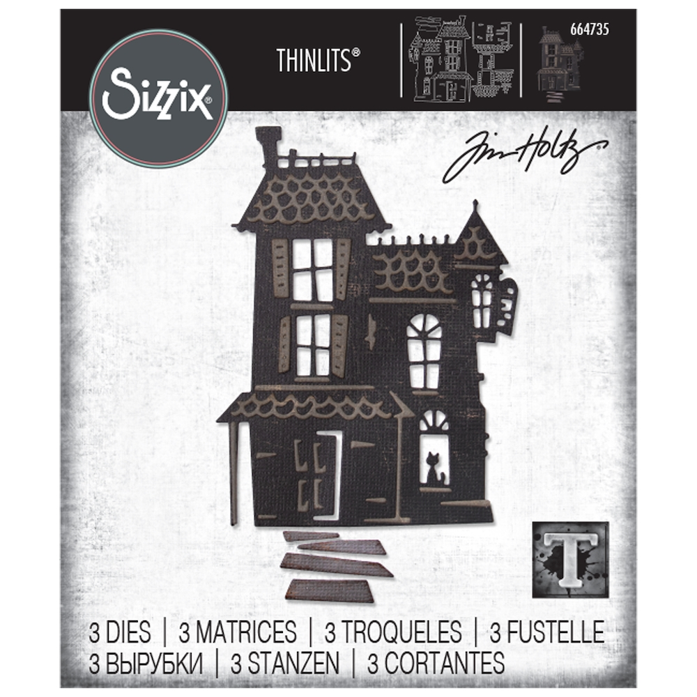 Tim Holtz Sizzix HAUNTED Thinlits Dies 664735 zoom image
