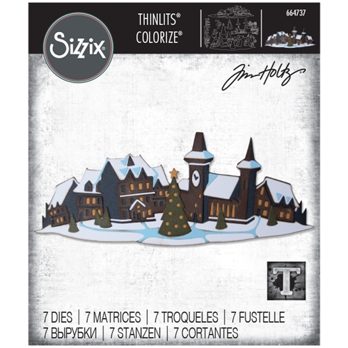 Tim Holtz Sizzix HOLIDAY VILLAGE Colorize Thinlits Dies 664737 Preview Image