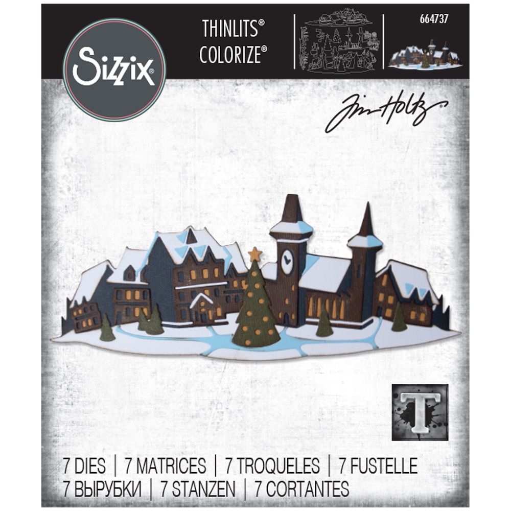 Tim Holtz Sizzix HOLIDAY VILLAGE Colorize Thinlits Dies 664737 zoom image