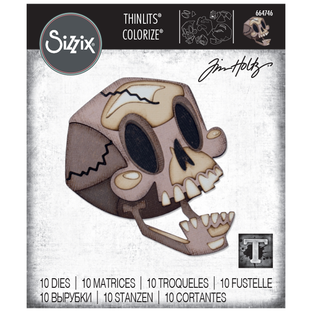 Tim Holtz Sizzix SKELLY Colorize Thinlits Dies 664746 zoom image