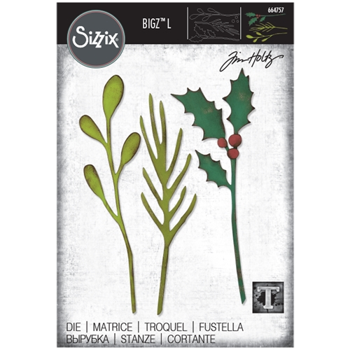 Tim Holtz Sizzix FESTIVE STEMS Bigz L 664757 Preview Image