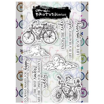 Brutus Monroe BLOOMING BICYCLE Clear Stamps bru3214