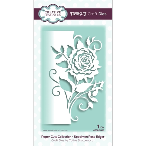 Creative Expressions ROSE EDGER Paper Cuts Collection Dies cedpc1120 Preview Image