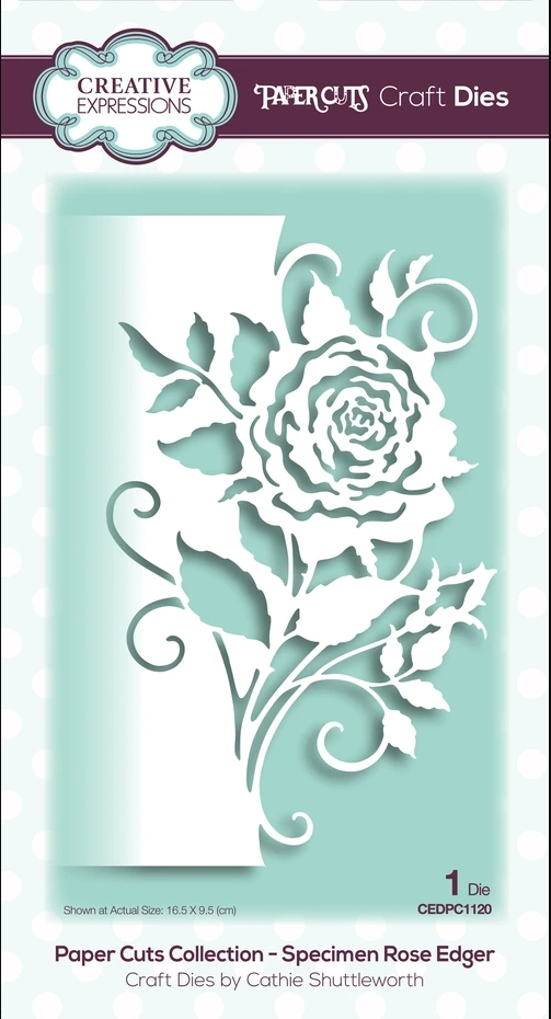 Creative Expressions ROSE EDGER Paper Cuts Collection Dies cedpc1120 zoom image