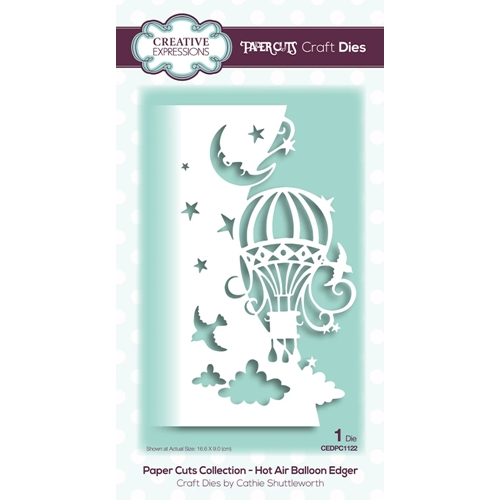 Creative Expressions HOT AIR BALLOON EDGER Paper Cuts Collection Dies cedpc1122 Preview Image