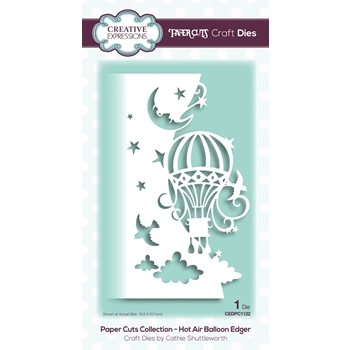 Creative Expressions HOT AIR BALLOON EDGER Paper Cuts Collection Dies cedpc1122