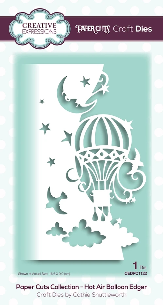Creative Expressions HOT AIR BALLOON EDGER Paper Cuts Collection Dies cedpc1122 zoom image