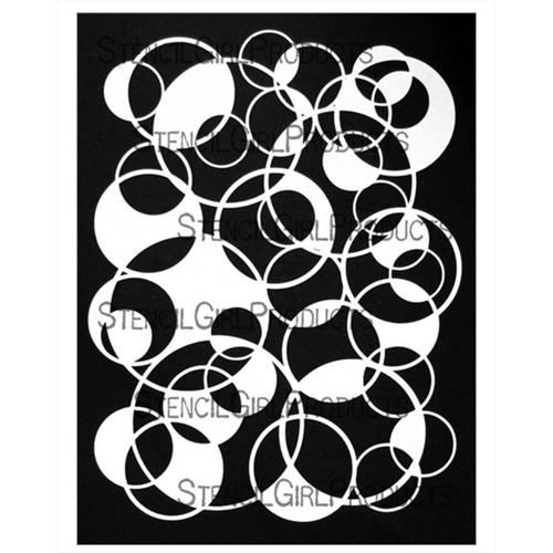 StencilGirl CIRCLES OVERLAPPING FILLED 9x12 Stencil l777 Preview Image