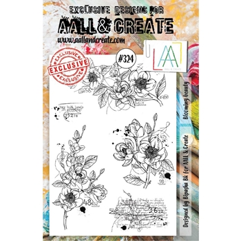AALL & Create BLOOMING BEAUTY A5 Clear Stamp Set aal00324
