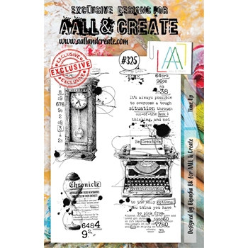 AALL & Create TIME UP A5 Clear Stamp Set aal00325