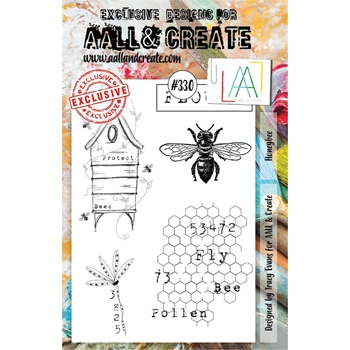 AALL & Create HONEYBEE A5 Clear Stamp Set aal00330