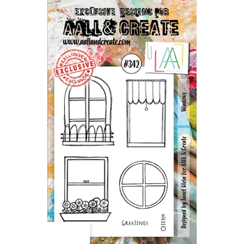 AALL & Create WINDOWS A6 Clear Stamp Set aal00342