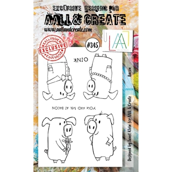AALL & Create BACON A6 Clear Stamp Set aal00345