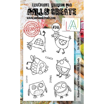AALL & Create FOR THE BIRDS A6 Clear Stamp Set aal00346