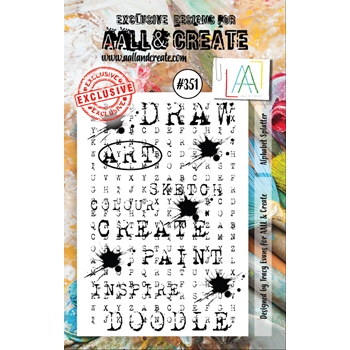 AALL & Create ALPHABET SPLATTER A7 Clear Stamp aal00351