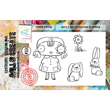 AALL & Create BUNNY AND BUNNIES A7 Clear Stamp Set aal00354