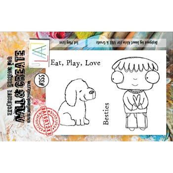 AALL & Create EAT PLAY LOVE A7 Clear Stamp Set aal00355