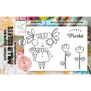 AALL & Create FLOWER MARKET A7 Clear Stamp Set aal00356