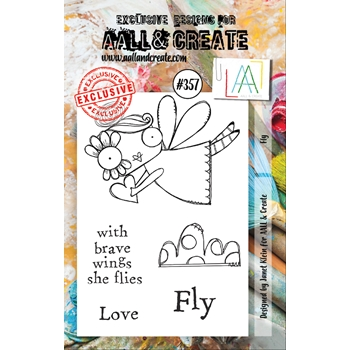 AALL & Create FLY A7 Clear Stamp Set aal00357