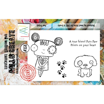 AALL & Create PAW PRINTS A7 Clear Stamp Set aal00358