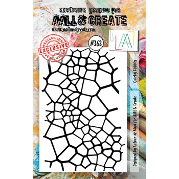 AALL & Create QUIRKY COBBLES A7 Clear Stamp aal00363