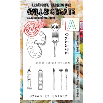 AALL & Create PAINT YOUR DREAMS A6 Clear Stamp Set aal00340