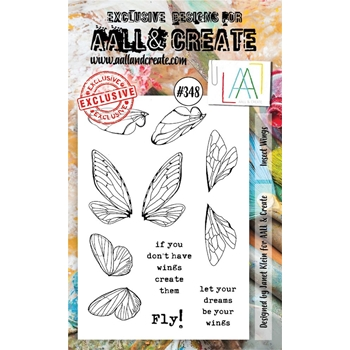 AALL & Create INSECT WINGS A6 Clear Stamp Set aal00348