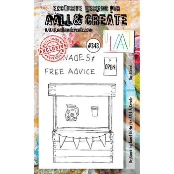 AALL & Create THE STAND A6 Clear Stamp Set aal00343