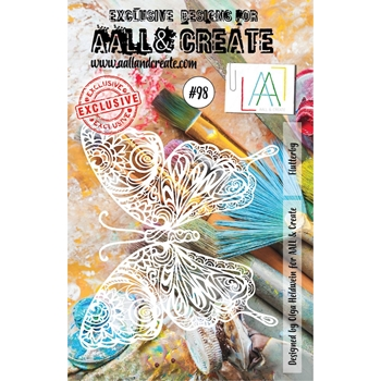 AALL & Create FLUTTERBY A5 Stencil aal10098