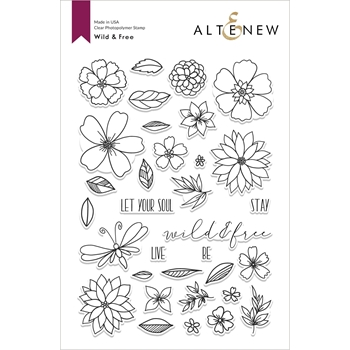 Altenew WILD AND FREE Clear Stamps ALT4216